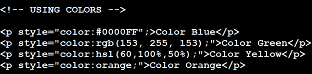 Cara membuat Warna dengan kode HTML