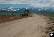 Road Construction. Photo by Dawn Ballou, Pinedale Online.
