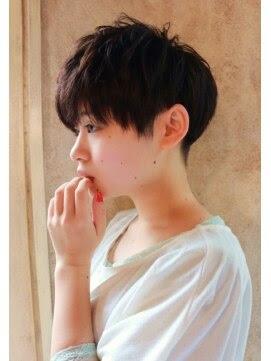 ヘアスタイル・髪型・ヘアカタログ(ベリーショート|黒髪  - ヘアカタログ ベリーショート パーマ