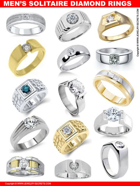 mens solitaire diamond rings jewelry secrets