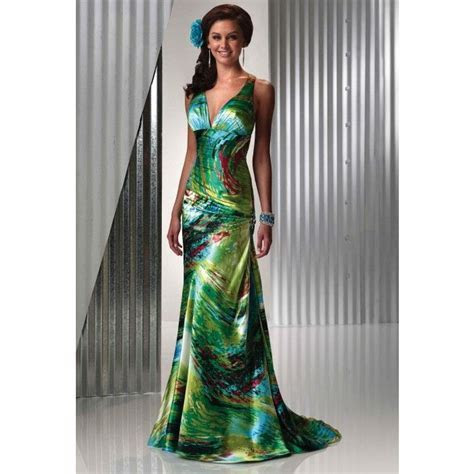 Tropical Bridesmaid Dresses for Weddings   Evening Dresses