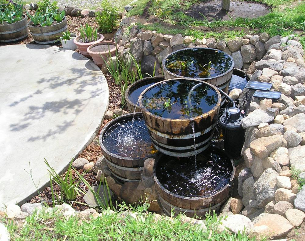 12 Wine Barrel As A Water Garden Suggestions Please