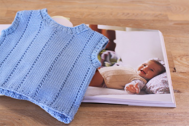 Jorth: Baby blue knitted vest