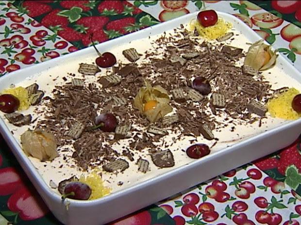 Torta de Sorvete é sugestão de sobremesa para a ceia de Ano Novo (Foto: Reprodução/TV Gazeta)