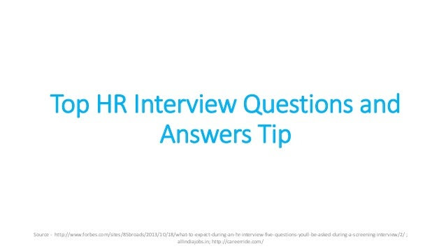Top HR Interview Questions and Answers tips