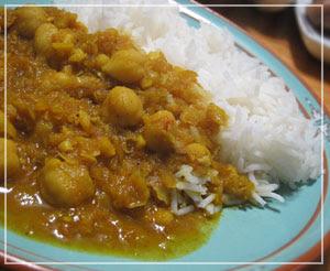 玉緒さんのひよこ豆カレー。うまー♪