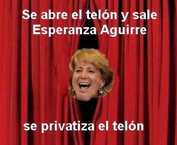 Se abre el telon y sale Esperanza Aguirre