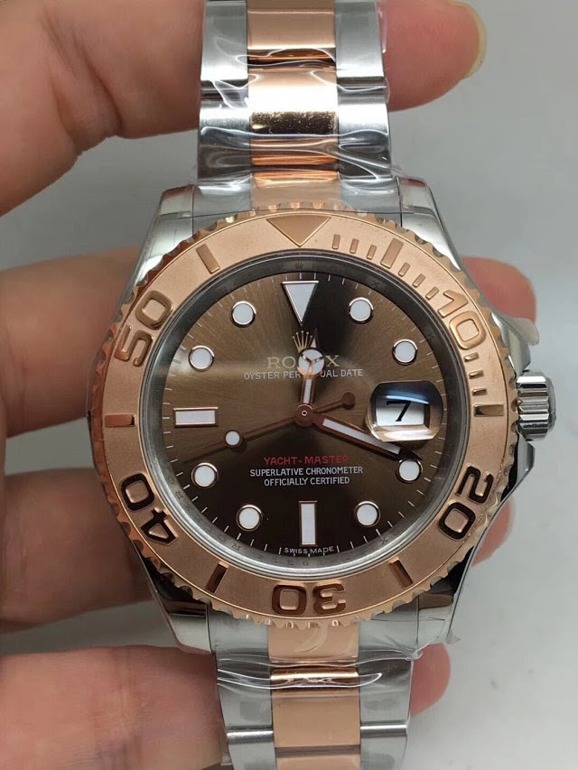 Replica Rolex YachtMaster Two Tone Rose Gold 40mm