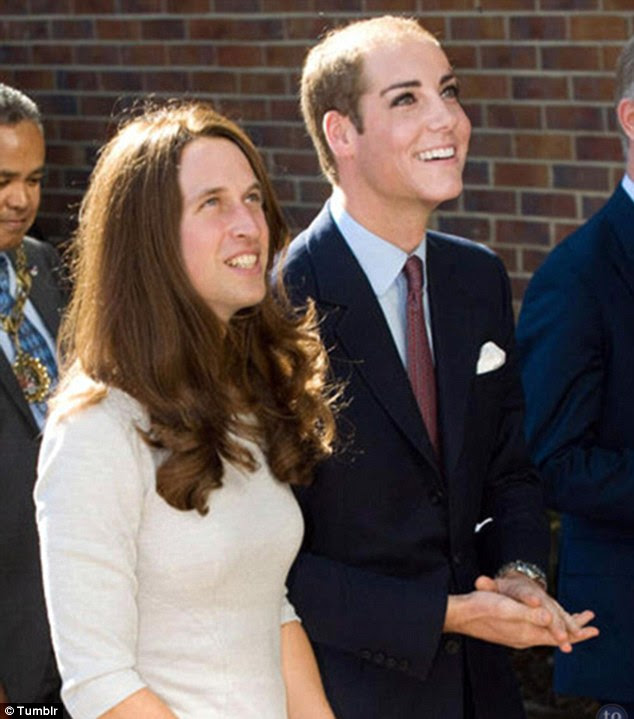 Disturbing: The Duke and Duchess of Cambridge do not look as picture perfect with their faces swapped