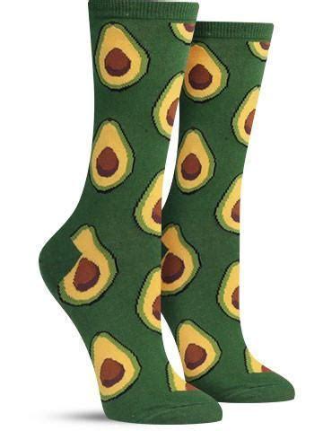 Avocados   Fun Food Socks for Women