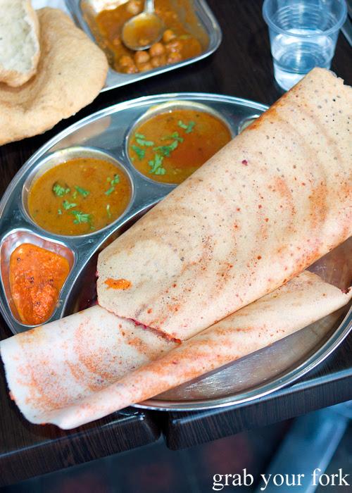 Mysore masala Bombay style dosa at Chatkazz Harris Park