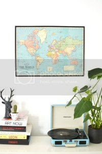 diy world map wall art,burkatron, craft, uk, blogger
