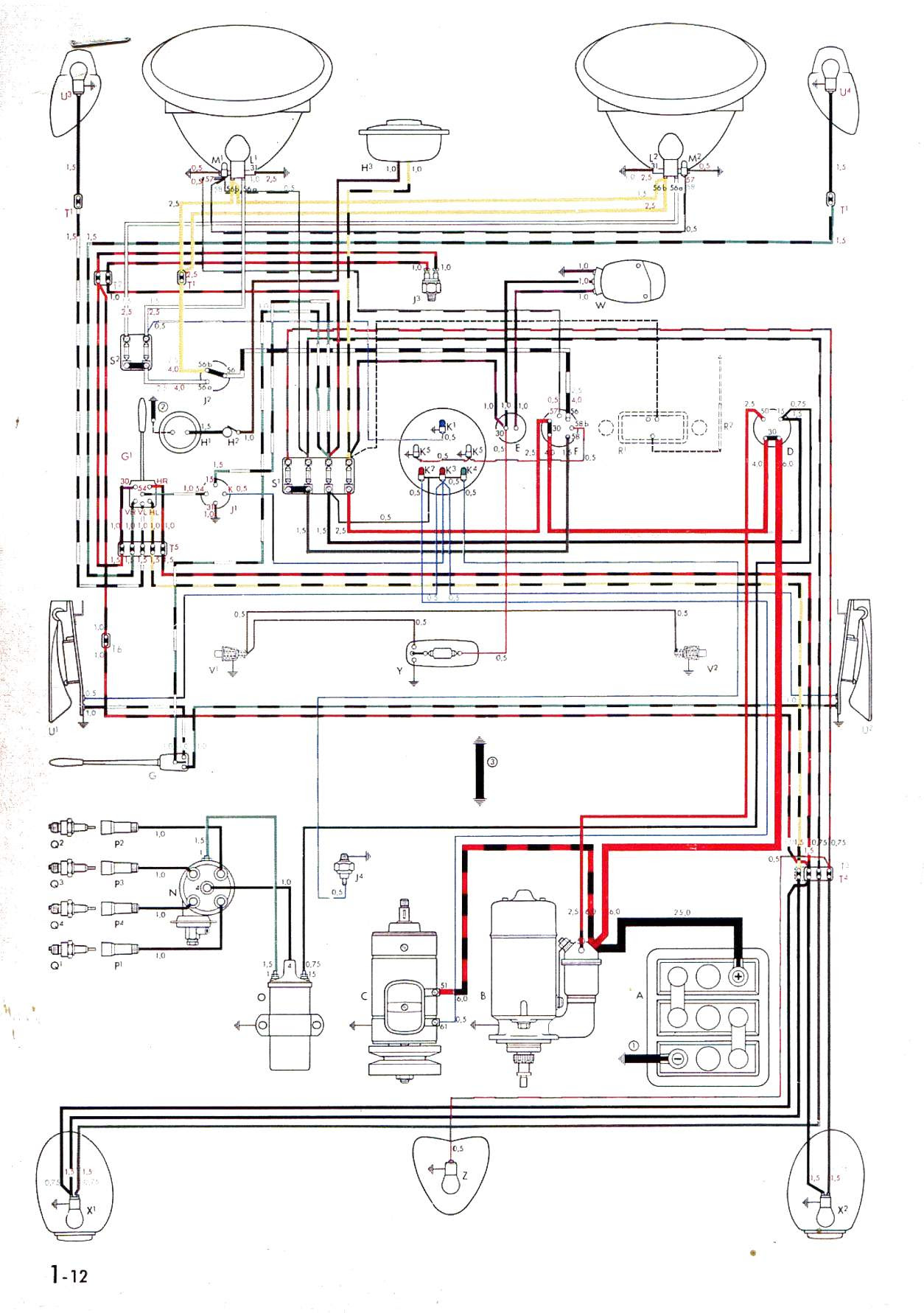 C9f 1967 Vw Beetle Wiring Harness Diagram Wiring Resources