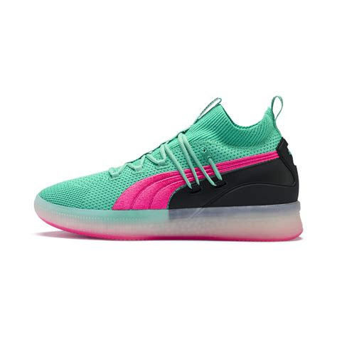 clyde court disrupt mens basketball shoes green puma