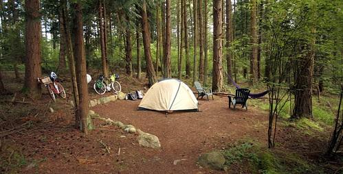 Tent site at Lopez Farm