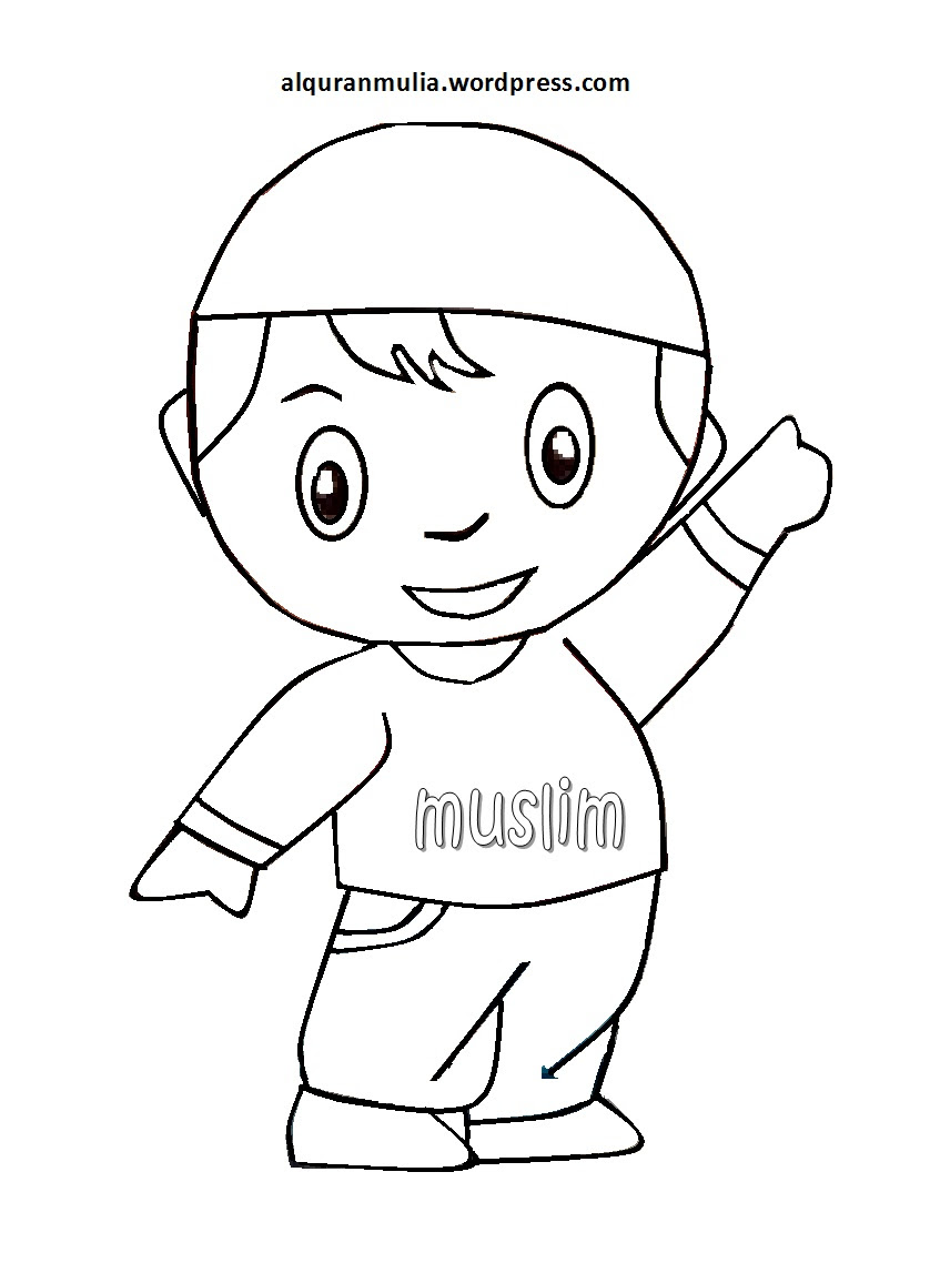 Gambar Kartun Muslimah Hitam Putih Kolek Gallery Bunga Drawing Art