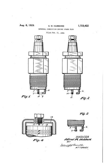 Patent US1723422 - Internal-combustion engine spark plug