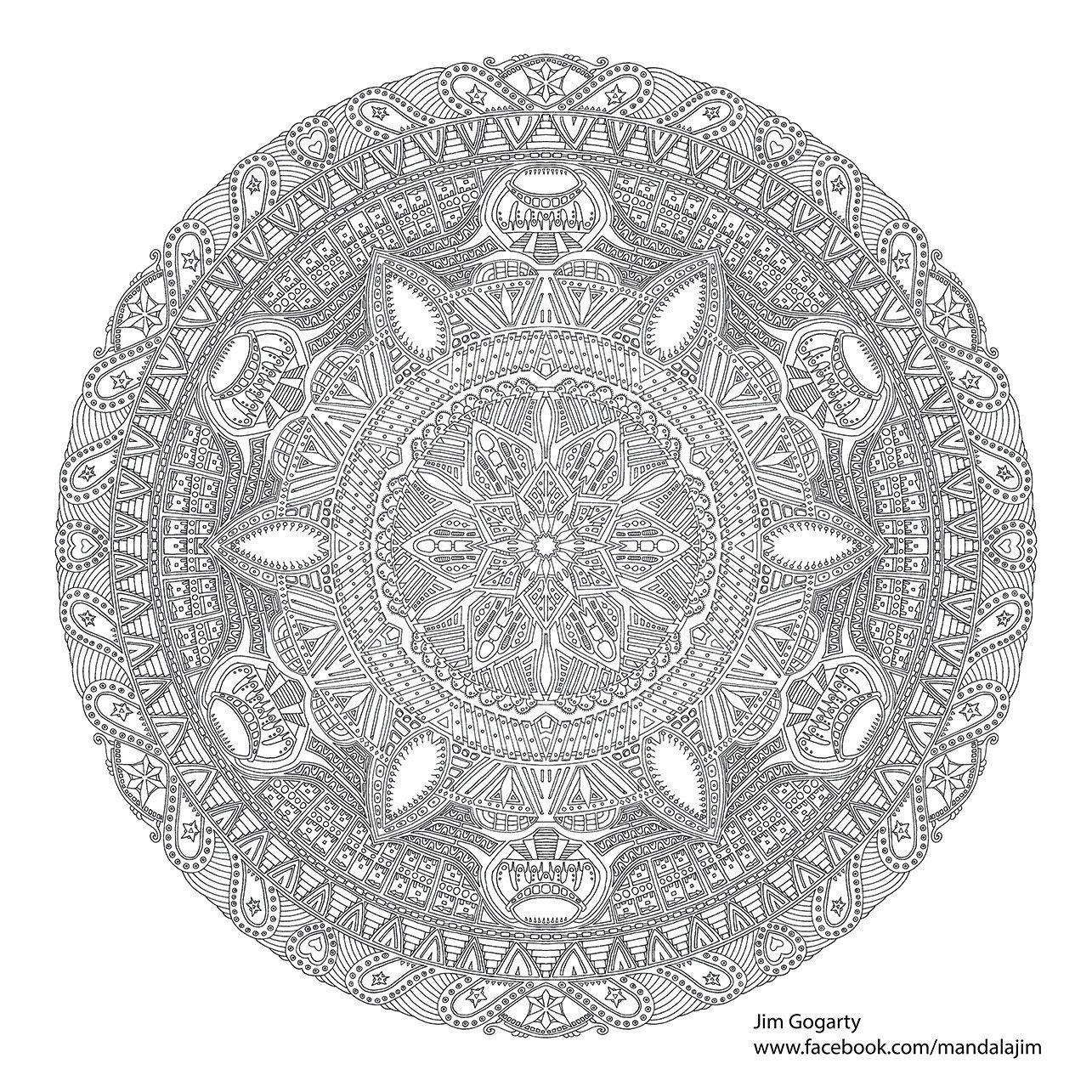 Advanced Mandala Coloring Pages The Difficult Level