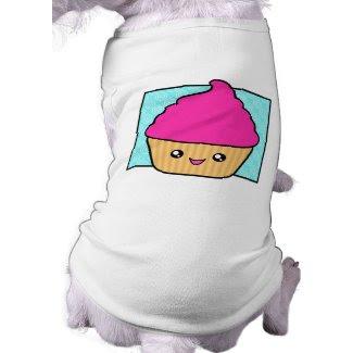 Hot Pink Kawaii Cupcake Apparel petshirt