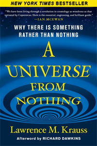 A Universe from Nothing: Why There Is Something Rather than Nothing (book cover)