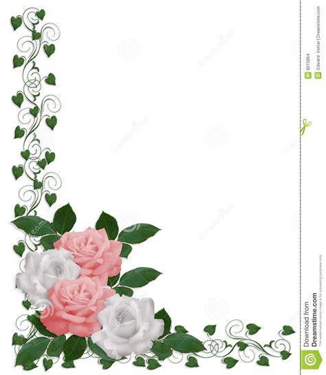 Roses And Ivy Wedding Corner Design Stock Illustration