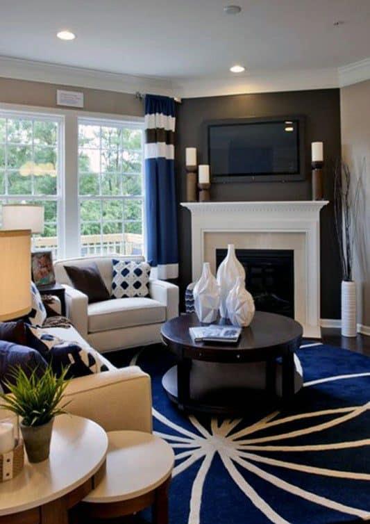 Top 70 Best Corner Fireplace Designs - Angled Interior Ideas