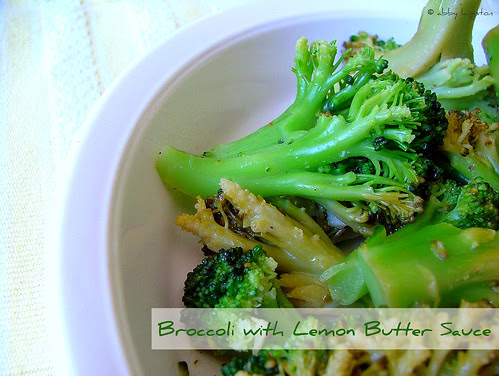 Broccoli with Lemon Butter Sauce