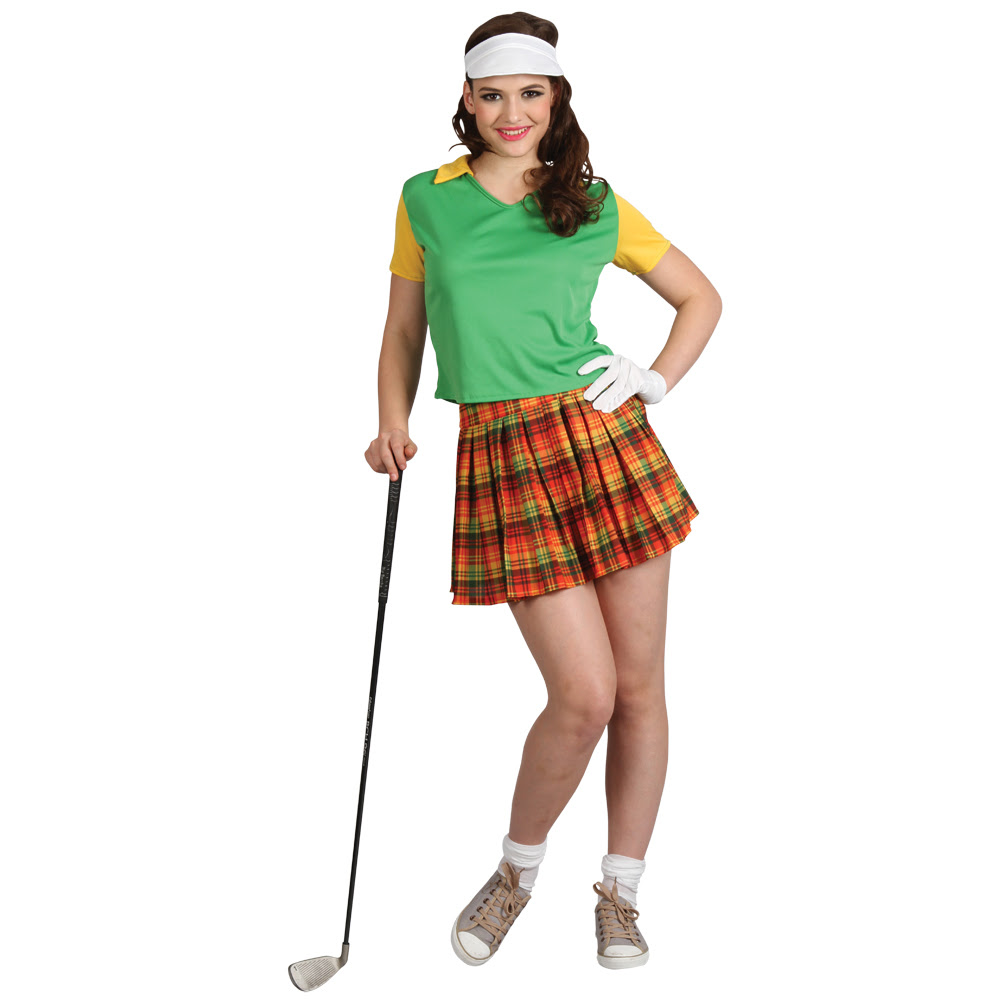 ladies novelty pub golf birdie babe golfer fancy dress