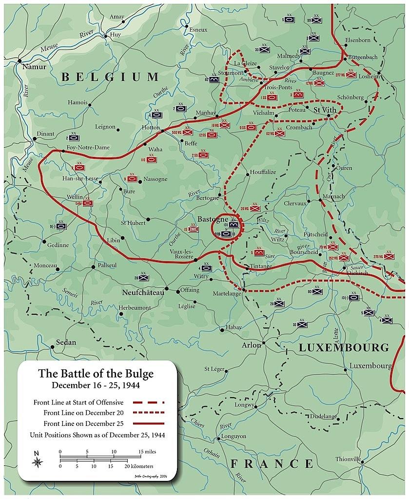 map battle of the bulge dec 16 25 1944