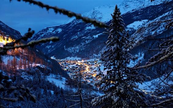 Switzerland Alps mountains winter season [1280x720]