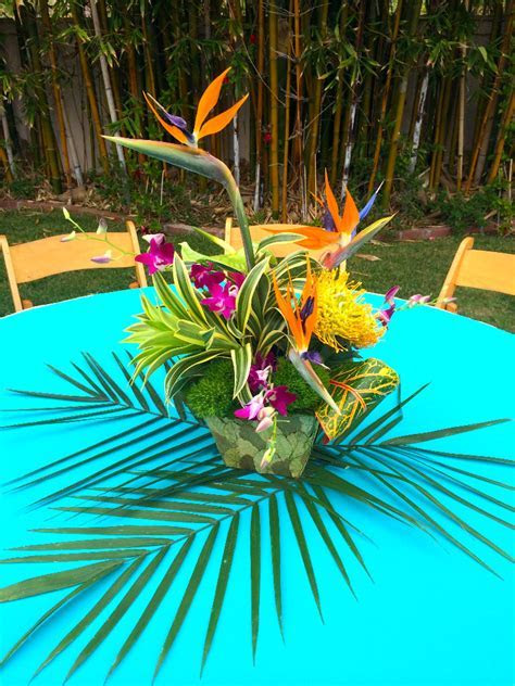 Thistle Dew Floral & Event Design » Tropical Themed Party