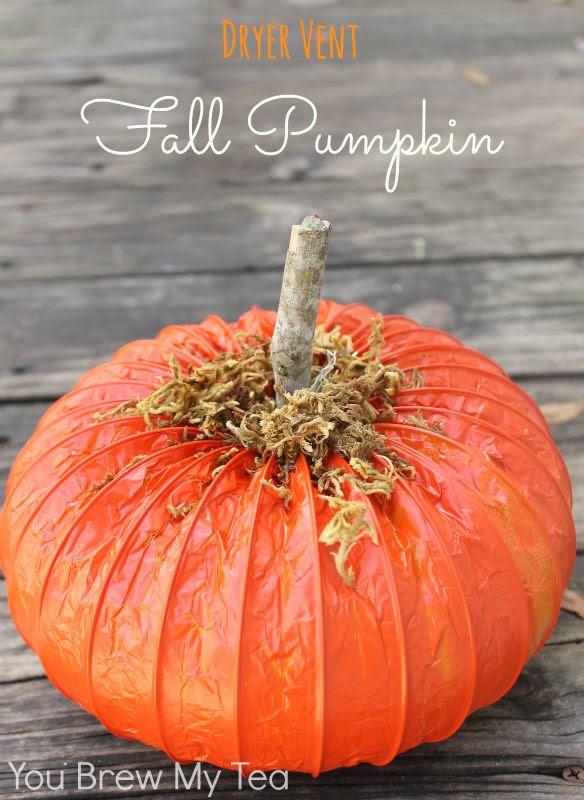 DIY Dryer Vent Fall Pumpkins | You Brew My Tea