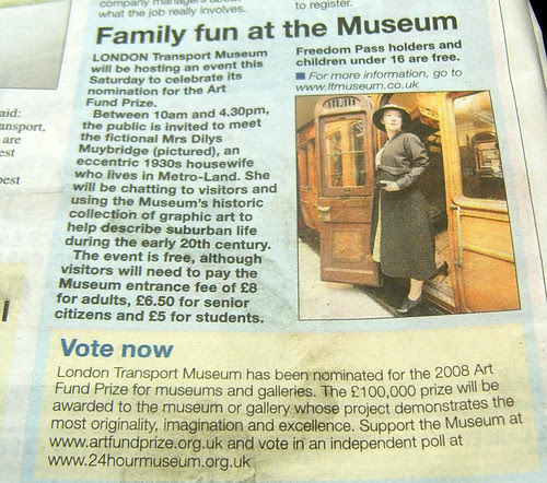 Mrs Metro-Land at the LT Museum