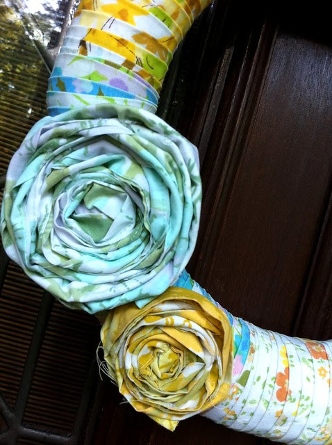 Spring wreath Rosettes