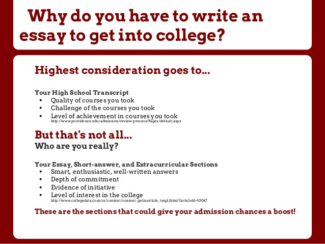 how to write a college essay application