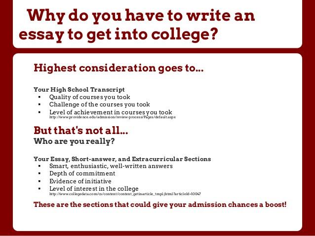 how to write university application essay