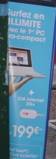 ASUS EEE PC advertisment in Paris. Photo by Shayne Flint