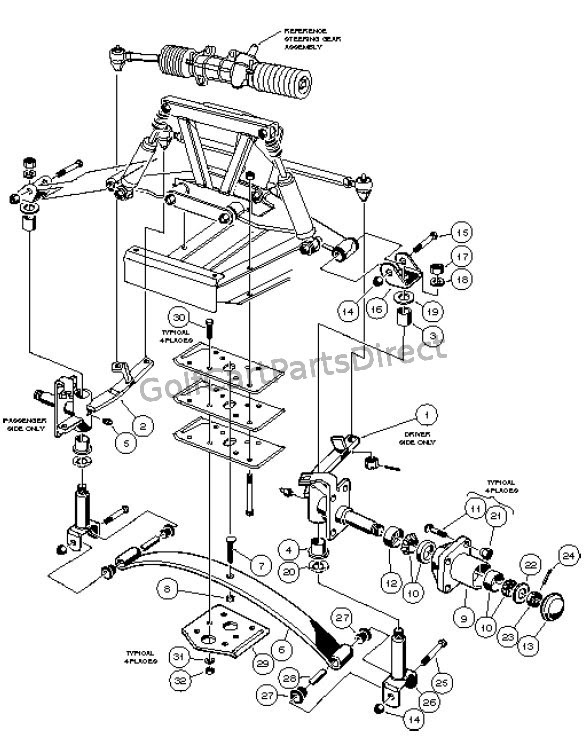 1997 Carryall 1, 2 & 6 by Club Car - Club Car parts ...