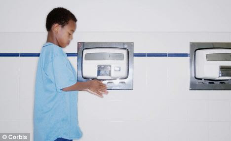 Previous studies have found that hand dryers harbour bacteria and can blast germs into the atmosphere promoting infection