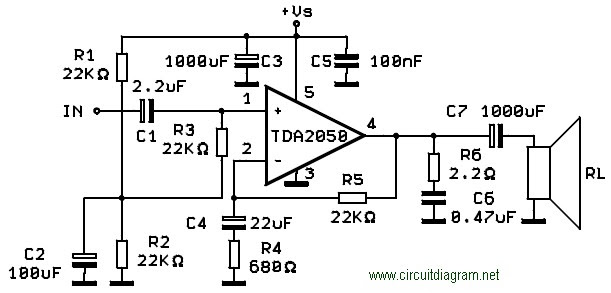 Wiring Schematic Diagram 300w Subwoofer Power Amplifier Manual Guide