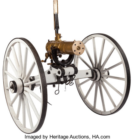 Long Guns:Other, U.S. Colt Model 1877 Bulldog Gatling Gun. Seri... Image #1