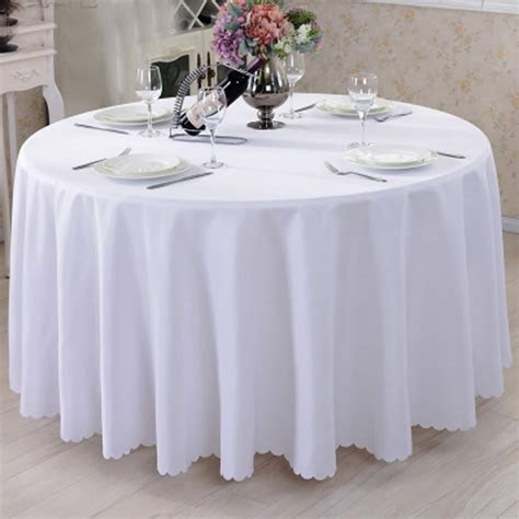 Cheap White Round Tablecloths and Round Polyester