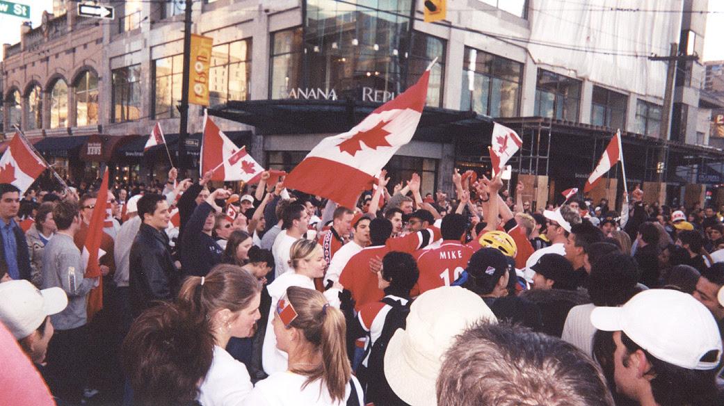 Canada's Olympic Men's Hockey Team winning the gold medal, 2002 Winter Olympics