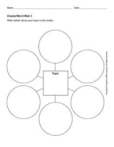 Blank Graphic Organizers | Star, Webbing, Cluster Graphic ...