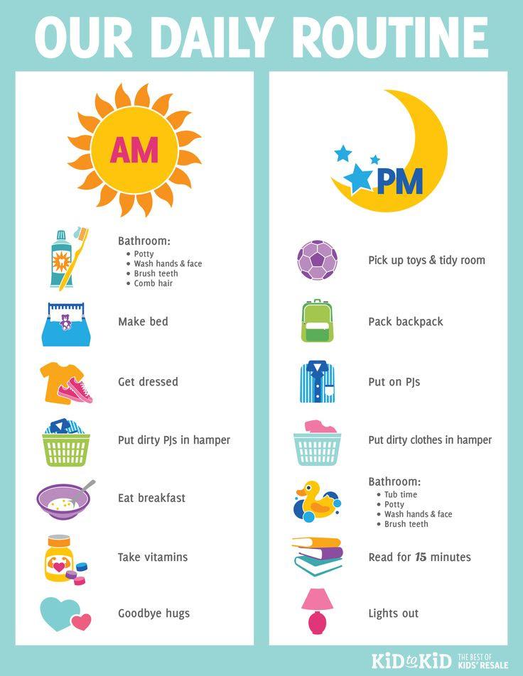 1000+ ideas about Kids Schedule Chart on Pinterest   Kids schedule ...