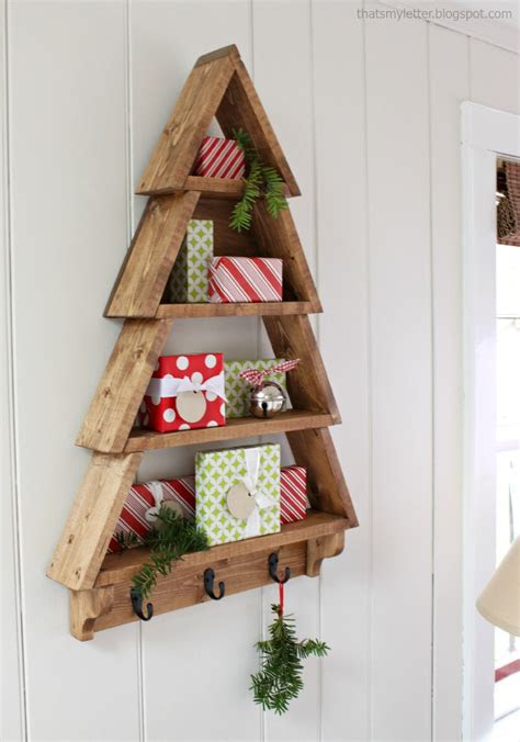 christmas tree shelf small wood projects cool