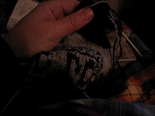7days:1 :: knitting at night :: nattestrikk