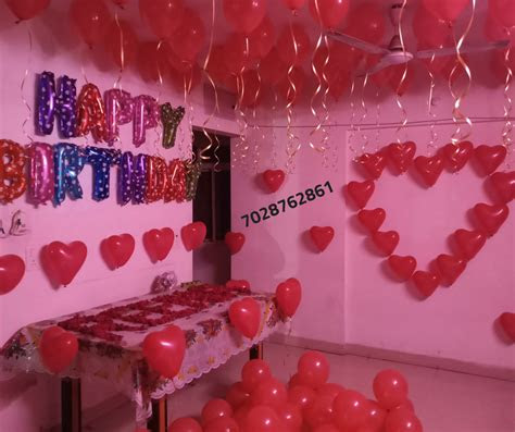 romantic room decoration  surprise birthday party
