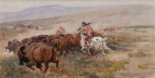 Charles Marion Russell, Buffalo Hunt