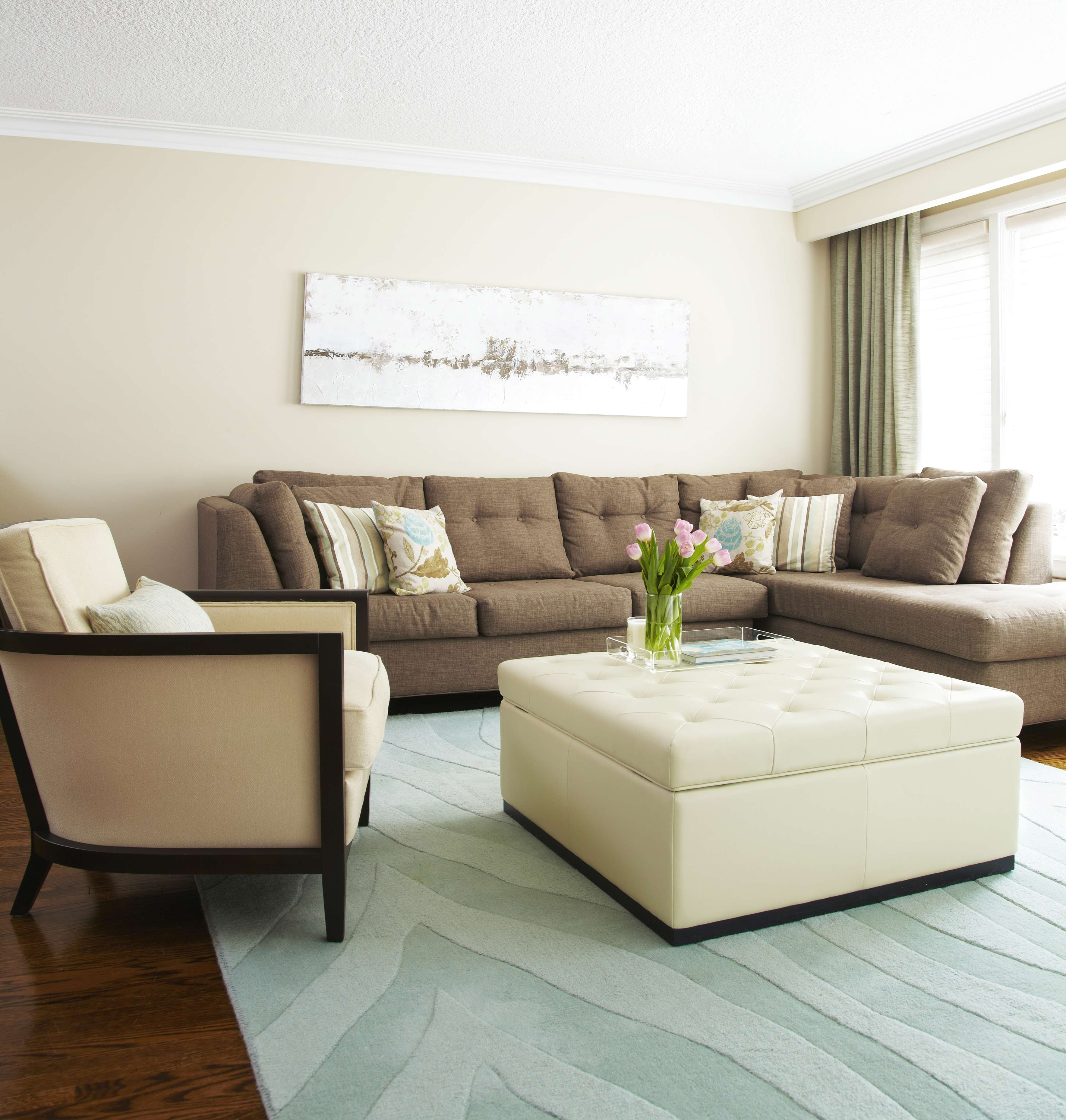 White Leather Ottoman Coffee Table Furniture | Roy Home Design